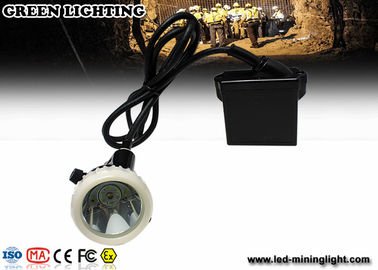 China Led Cap Lamp Underground Mining With 3.7V 6.6Ah Lithium Battery , Cree LED Mining Headlamp factory