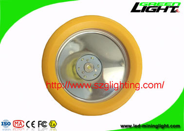 China LED Rechargeable Coal Mining Lights , Yellow Miners Helmet Light For Underground Safety factory