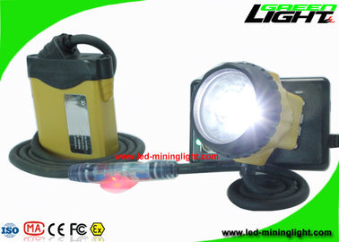 China Rechargeable LED Mining Lamp Customized Color With Security Warning Light factory