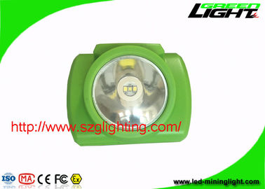 China 200g LED Mining Headlamp One Year Warranty With 6.2Ah Rechargeable Li - Ion Battery factory