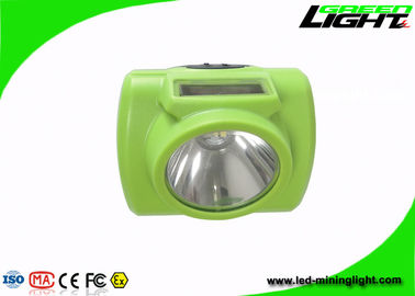 China 200g Light Weight LED Mining Headlamp 6.8Ah Li - Ion Battery With Green Color factory