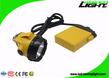 25000 Lux High Beam Corded Led Mining Headlamp Anti Explosive IP68 Waterproof
