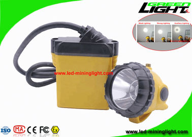 High Security LED Mining Light Cap Lamp 25000 Lux With 10.4Ah SAMSUNG Battery