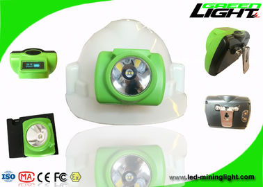 China USB Charging Led Cordless Mining Light , Cap Lamp Mining PC Beam Safety OLED Screen factory