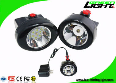 China 10000 Lux IP67 Cordless Mining Lights Cap Lamp 2.8Ah Battery Plug - In Charging Way factory