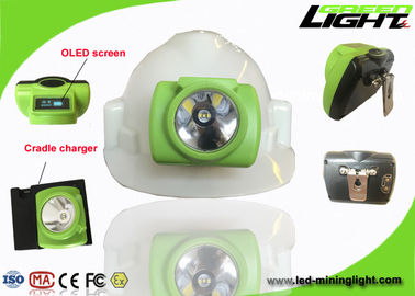 China 3.7V Cordless Cap Lamp Safety IP68 Waterproof Rechargeable Hard PC Material factory