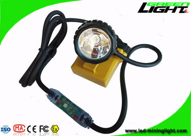 China 25000lux Coal Miners Lamp GLC12-A Corded Cable 10.4Ah Rechargeable SOS Mining Lights factory