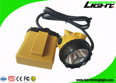 China 25000lux High Power Rechargeable Led Headlight 10.4Ah With Low Power Warning factory