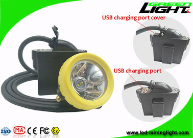 China 10000 Lux Brightness LED Mining Light Underground Rechargeable Headlamp With USB Charging factory