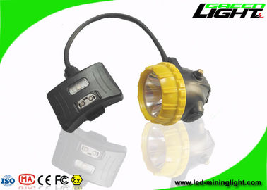 China 6.8Ah Battery Mining Cap Lights Semi Corded 15000lux With Aluminum Lighting Cup factory