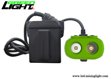 China 15000lux Brightness LED Miners Cap Lamp TPV Material 10.4Ah Panasonic Battery Pack factory