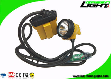 China Low Power Warining Led Miners Cap Lamp 10.4Ah 25000lux High Beam 2A Charger factory