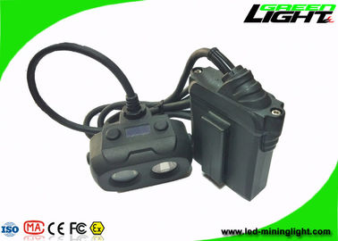 China Double Shot Molding Hard Hat Headlamp 15000lux High Lllumination Dula Beam IP68 factory