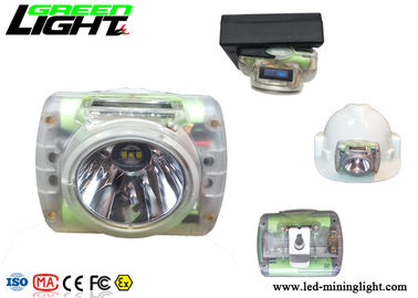 China OLED Screen Waterproof Led Headlamp , Hard Hat Light Rechargeable Transparent Cordless factory