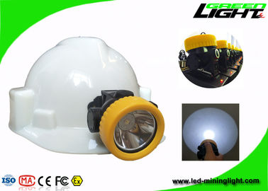 China Rechargeable Miners Hard Hat Lamp 5000lux Brightness IP68 Waterproof ABS Material factory