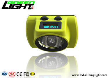 China Underground Coal Miner Hard Hat Light 18000lux Coal Low Power Indication Led Screen factory