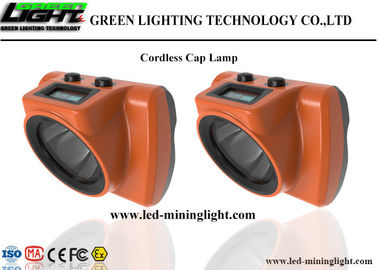 China High Brightness LED Cordless Cap Lamp 1.78W Lithium Lon Battery With OLED Screen factory