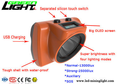 China Super Strong 18000lux Miners Hard Hat Lamp 3.7v Tough Shell Body CE Certificated factory