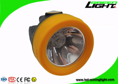 China Hard Hat LED Light Mining Cap Lamps , Cordless Mine Rechargeable Cap Light 3.7V factory