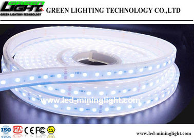 China Flexible Silica Gel Outdoor Led Strip Lights Waterproof , Cool White Led Strip Lights factory