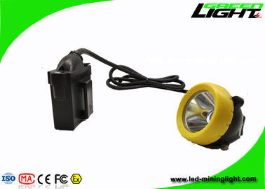 China Industrial Lighting LED Miners Cap Lamp 10000lux 7.8Ah Battery With Silicon Button Cap factory