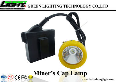 China Waterproof IP68 Underground Mining Cap Lamps Silicon Button Cap Low Power Warning factory