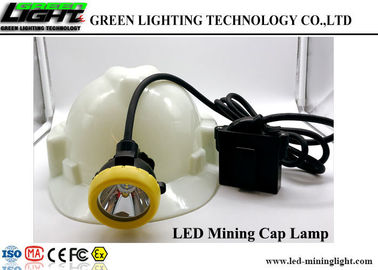 China 10000Lux Corded LED Miners Cap Lamp , Waterproof Coal Miner Hard Hat Light IP68 factory