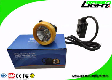 China Warning Mining Cap Led Tunnel Lamp 7.8Ah Li - Ion Battery With 18hrs Working Time factory