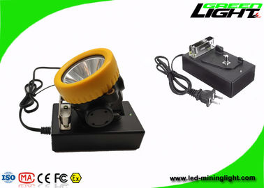 China PC Recharegable LED Tunnel Light Cap Lamp 2.2Ah Lithium Ion Battery 4500lux factory