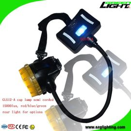 China 6.8Ah Panasonic Battery Mining Cap Lights High Power 1.7W Ip68 For Hard Hats factory