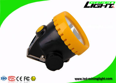 China Mining Safety Cap Rechargeable LED Headlamp IP67 With 2.2Ah Li Ion Battery factory