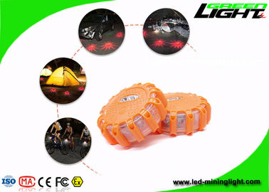 Vehicle Hazard LED Warning Light Car USB Rechargeable Magnetic Hook Road Emergency Disc