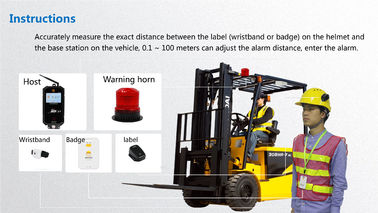 Forklift Collision Avoidance UWB 10W LED Warning Light