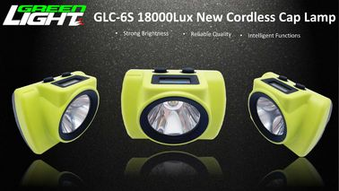 OLED Screen 18000 LUX Led Cordless Mining Cap Lamp