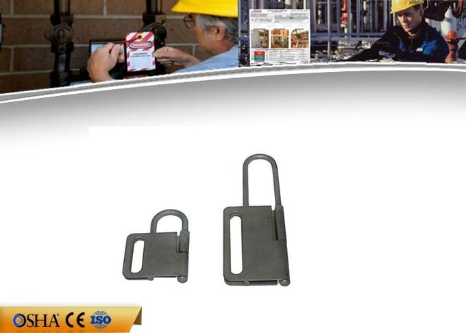 Butterfly Shape Safety Lockout Hasp , Hardened Steel Rust Coated Lock Out Hasp