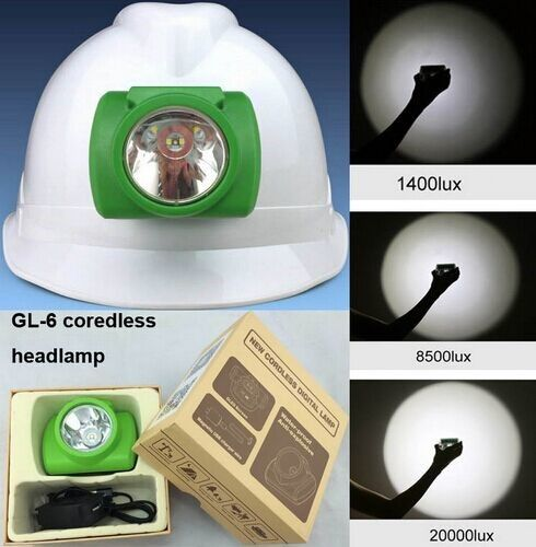 GLC-6C 170g 13000Lux 1W Cree LED Miner Light Hunting Cap Light LCD with OLED display